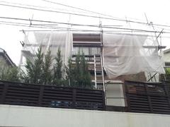南青山で、工事中です。