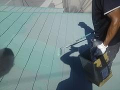 横須賀市米が浜通りI様邸にてガイナ塗装中