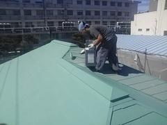 横須賀市米が浜通り、I様邸ガイナ塗装。