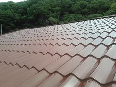 横須賀市ハイランド I様邸屋根塗装完了。